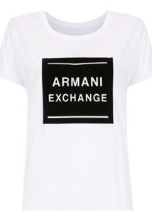 a5439f49d93 ... Armani Exchange Blusa Com Estampa - Branco
