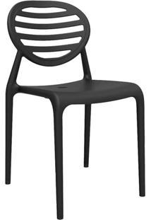 Cadeira Stripe Sem Braço Preta
