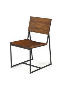 Cadeira York Metal Grafite Rustic Brown 83 Cm (Alt) - 38542 Rustic