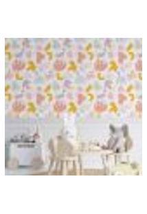 Papel De Parede Adesivo Abstrato Infantil N014009 Rl 0,58X3M