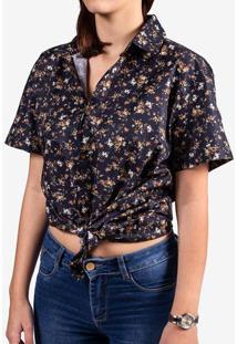 Camisa Micro Estampa Floral 800065