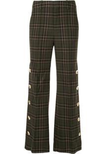 Portspure Calça Pantalona Xadrez - Marrom