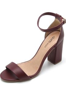 Sandália Dafiti Shoes Tiras Vinho