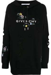Givenchy Moletom Oversized Com Logo - Preto