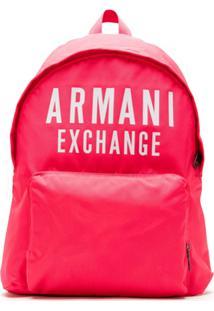 Armani Exchange Mochila Com Logo - Rosa