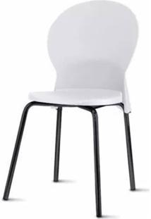 Cadeira Luna Assento Branco Base Preta - 53835 Sun House