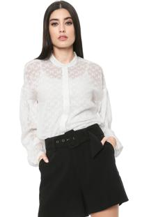 Camisa Colcci Texturas Branca