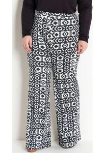 Calça Pantalona Étnica Plus Size Marguerite