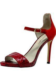 Sandália Veleno Python Vermelho