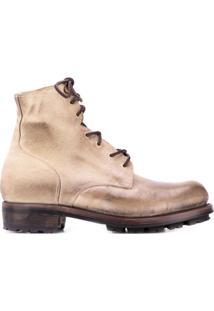 Ajmone Ankle Boot Com Cadarço - Neutro