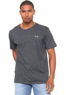 Camiseta Oakley Reta Logo Cinza