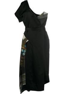 Vivienne Westwood Anglomania Vestido Ombro Único Com Recortes - Preto