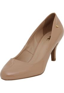 Scarpin Polo London Club Verniz Cristal Basic Nude
