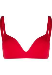Emporio Armani Sutiã Com Estampa De Logo - Vermelho