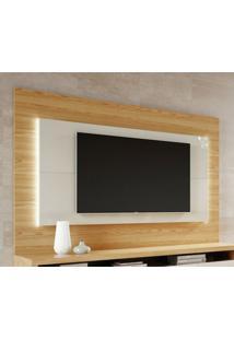 Painel Para Tv De 60 Polegadas Colônia Rovere E Off White 180 Cm