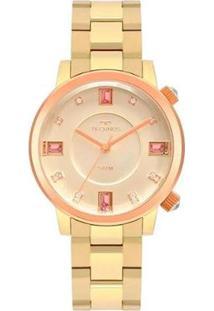 Relógio Technos Feminino Rocks Dourado Analógico 2039Ct1D - Feminino