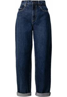 Nobody Denim Calça Jeans Reta Sadie Cintura Alta - Azul
