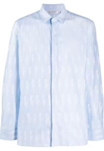 Neil Barrett Lighting Bolt Shirt - Azul