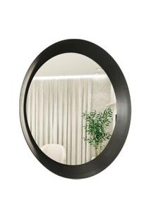 Espelho Decorativo Paella Preto 60 Cm Redondo