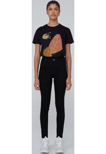 Calça Jeans Super Skinny Cintura Alta - Preto
