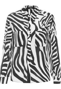 Camisa Feminina Seda Belle - Animal Print