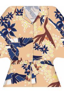 Camisa Amarração Estampa Guacamayo - Lez A Lez