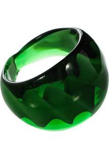 Anel De Vidro - Feminino-Verde