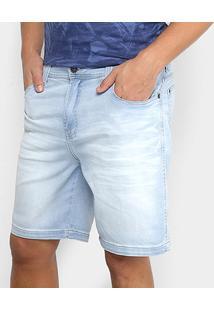Bermuda Jeans Ellus Jogging Memory Slim Masculina - Masculino-Azul Claro