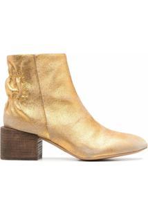 Diesel Ankle Boot Metálico - Dourado