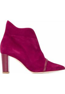 Malone Souliers Ankle Boot Com Fenda Frontal - Rosa