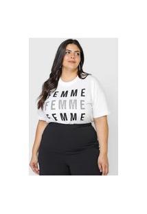 Camiseta Colcci Femme Branca