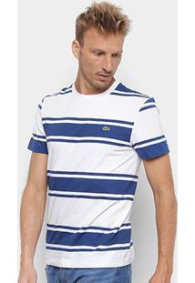 Camiseta Lacoste Listrada Masculina - Masculino