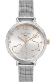 Relógio Condor Feminino Bem Querer Prata Analógico Co2035Myik4K - Feminino