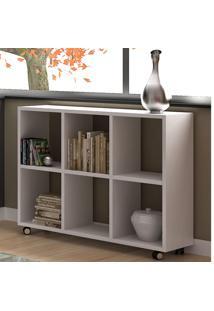 Estante Para Livros 6 Nichos 25 Mm Be 09 Branco - Brv Móveis