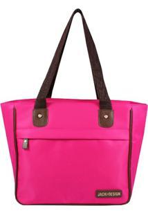 Bolsa Shopper Jacki Design Microfibra - Feminino
