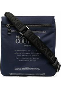 Versace Jeans Couture Bolsa Carteiro Com Estampa De Logo - Azul