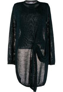 Loewe Suéter Decote Careca Assimétrico - Azul