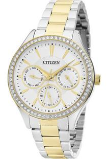 Relógio Analógico Tz28404B- Prateado & Dourado- Citicitizen
