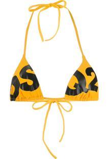 Dsquared2 Sutiã De Biquíni Com Logo - Amarelo