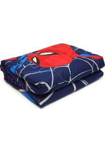 Edredom Solteiro Lepper Kids Estampado Spider Man 1,50X2,20M Azul