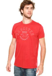 Camiseta Gangster Recortes Vermelha