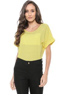 Camiseta Ana Hickmann Woman Power Amarela