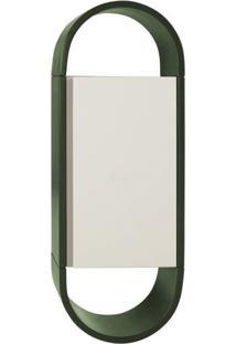Armário Para Banheiro Wish 1Pt Verde Musgo E Branco