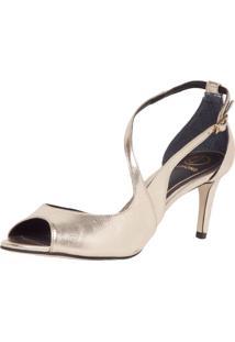 Sandália Dumond Assimétrica Dourada