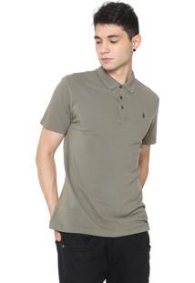 Camisa Polo Volcom Reta Corporate Verde