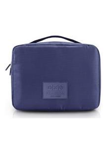 Necessaire De Viagem Quadrada Estampado Jacki Design Viagem Azul