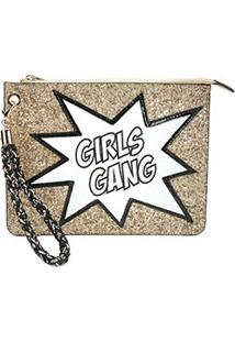 Clutch Loucos & Santos Girls Gang - Feminino-Dourado