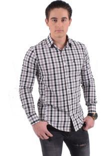 Camisa Social Horus Slim Xadrez 200110 Masculina - Masculino