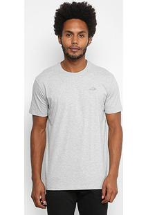Camiseta Oakley Dry Masculina - Masculino-Cinza+Branco