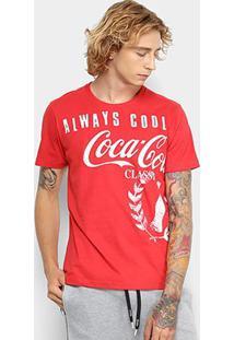 Camiseta Coca-Cola Always Cool Aroma Masculina - Masculino-Vermelho